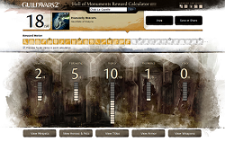 Calculateur de récompense Guild Wars 2
